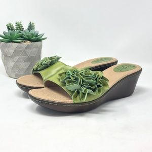 BOC Born Concepts Wedge Slingback Size 9  Green